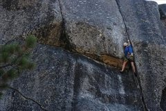 Rock Climbing Photo: caughtinside at the crux of Aja.