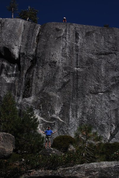 Rock Climbing Photo: Camille raps Over the Rainbow while I goof off at ...