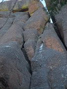 Rock Climbing Photo: Upper Section of Left Side of the Key, route follo...