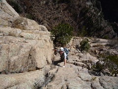 Rock Climbing Photo: On pitch 6. Although Robb looks like he is doing w...