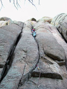 "Rock Climbing Photo: Redpointing ""Jump Start"" on a cold Novem..."