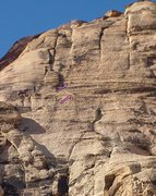 Rock Climbing Photo: Wide open spaces-- the lower climber is at the thi...