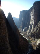 Rock Climbing Photo: Black Canyon all to ourselves.  Nov 23 rd. 2008.  ...