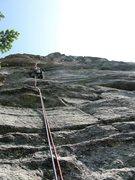 Rock Climbing Photo: Good face climbing on pitch 4