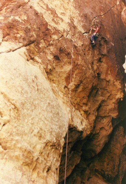 Rock Climbing Photo: Richard Harrison on Gobies for Gumbies, 5.10+.
