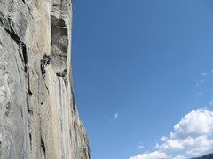 "Rock Climbing Photo: Rob on the ""C3 Junk"" pitch 20 on NA Wall..."