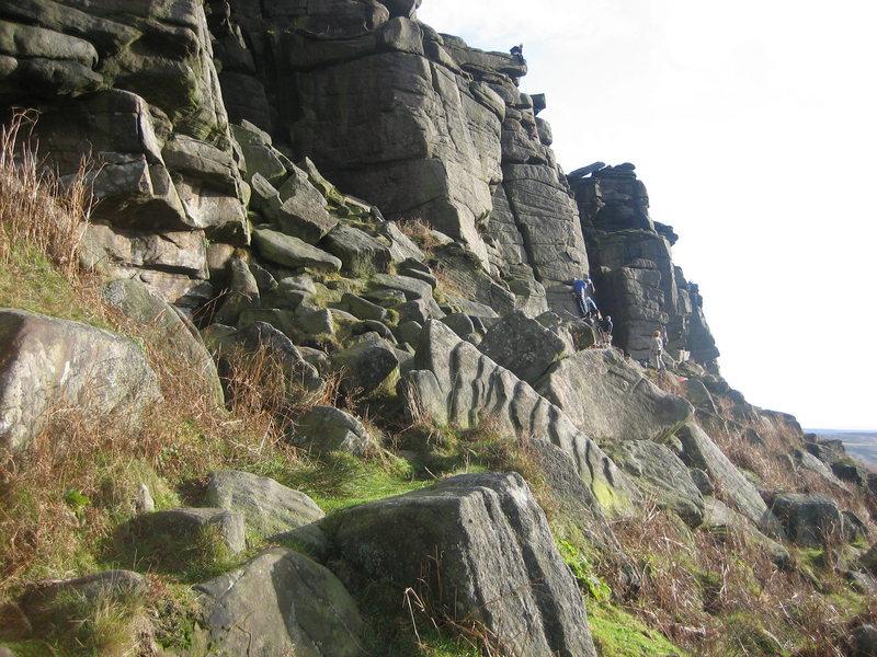 Rock Climbing Photo: Popular end