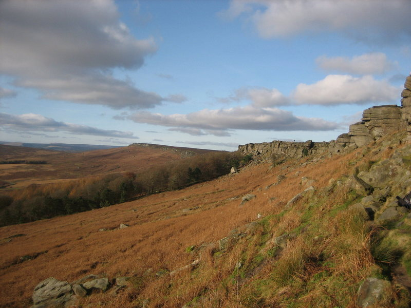 Rock Climbing Photo: The view from Stanage