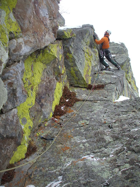 Jeff G. on the third pitch of Augille route