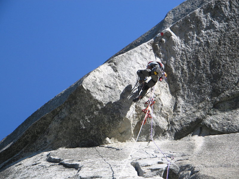 Rock Climbing Photo: Raising the Roof!