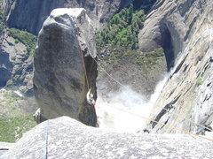 Rock Climbing Photo: Me on the Tyro.