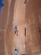 Rock Climbing Photo: Climbing Scarface at the Creek