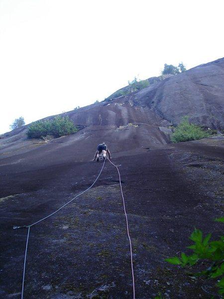 Rock Climbing Photo: first pitch of Schizophrenia