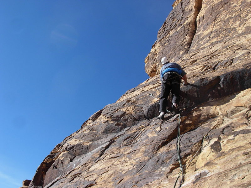 Rock Climbing Photo: Bill Hotz starting the 3rd pitch.