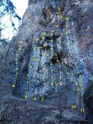 Rock Climbing Photo: Membrane Wall 4.  Bad Faith 5.9 5.  Caress of Stee...