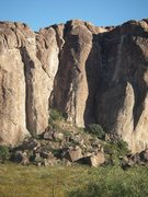 Rock Climbing Photo: Uriah's Heap starts on the lower pillar leaning ag...