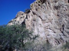 Rock Climbing Photo: First 5.9 lead on Peanut Brittle