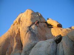 Rock Climbing Photo: Dave moving toward the crux of dandelion