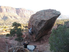 Rock Climbing Photo: working on a new problem down BBR.