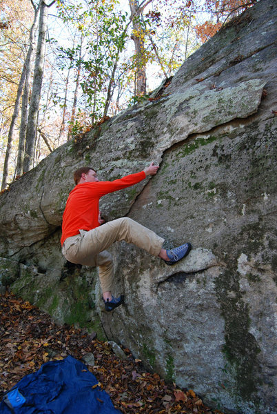 Rock Climbing Photo: Watch out for sharp edges.