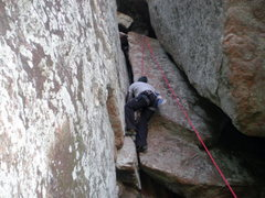 Rock Climbing Photo: Climbing Crack on upper mt. scott the romper room