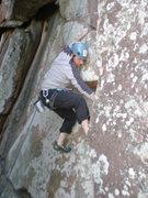 Rock Climbing Photo: Climbing Crack on upper mt. scott 5.8 romper room