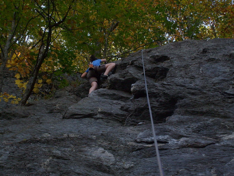Melissa nearing the top.