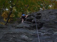 Rock Climbing Photo: Melissa nearing the top.
