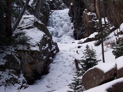 Rock Climbing Photo: Browns Creek Falls - WI2.
