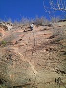 Rock Climbing Photo: Setting up the rap for The Mad Scientist. One of m...