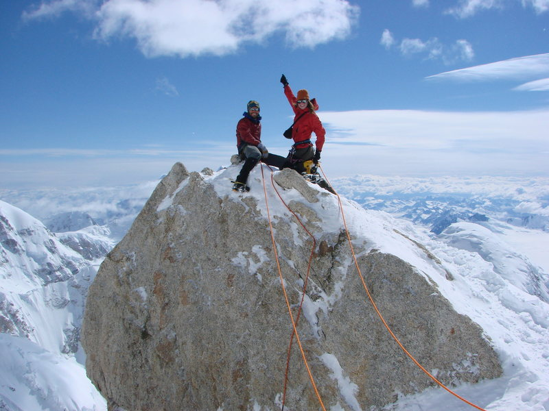 Rock Climbing Photo: Chris and Pete on the Edge of the World, AK