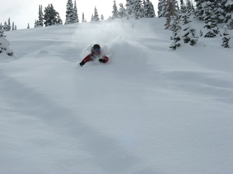 Rock Climbing Photo: James enjoying chest deep snow. 2008 Photo taken b...
