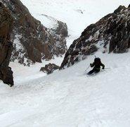 Rock Climbing Photo: Goldfinger  Skier: Beau Burris. 2008 Photo taken b...