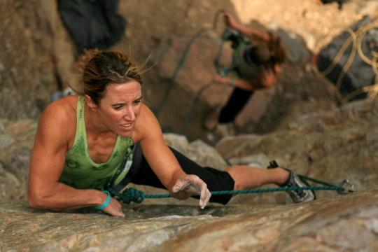 Heidi at HERA Climb4Life