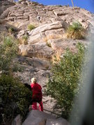 Rock Climbing Photo: Pitch one of Cross-trainer.  Lots more fun than th...