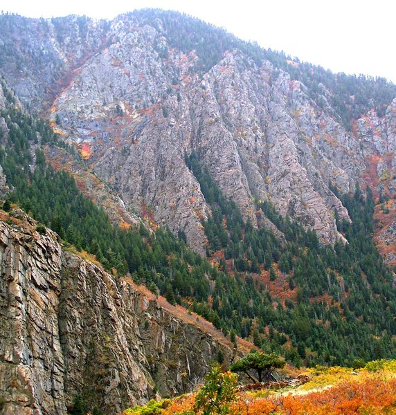 Rock Climbing Photo: It's not the best photo, but the fall colors are a...