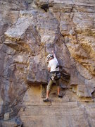Rock Climbing Photo: Dick Williams between the first and second bolts. ...