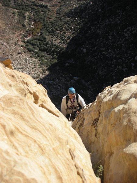 Rock Climbing Photo: Larry finishing 5