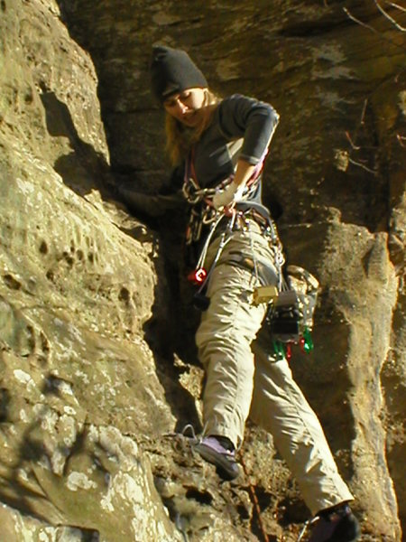 Amy leading Calypso III-fun route.