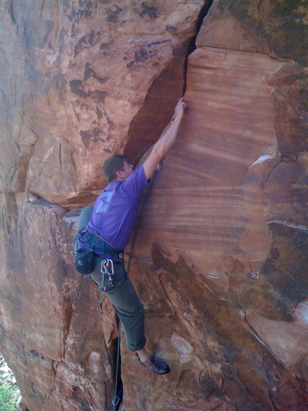 Rock Climbing Photo: DJ killin it!