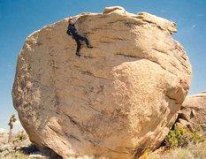Rock Climbing Photo: Photo by Lynn Bowering. Kris Solem showboating...