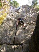 Rock Climbing Photo: 'Difficult Crack.' 5.9
