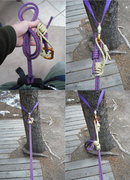 Rock Climbing Photo: Adjustable Anchor Tie-In w/ cord