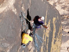Rock Climbing Photo: Just about to get started.  Ben is in amazing spir...