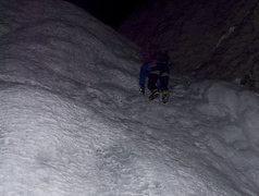 Rock Climbing Photo: Rob M on a headlamp free-solo start to Polar Circu...