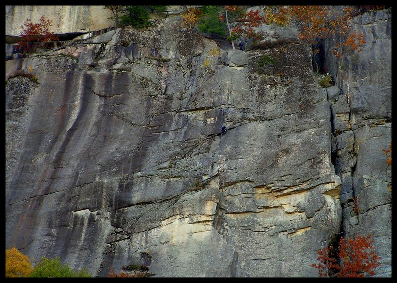 Rock Climbing Photo: thin air face