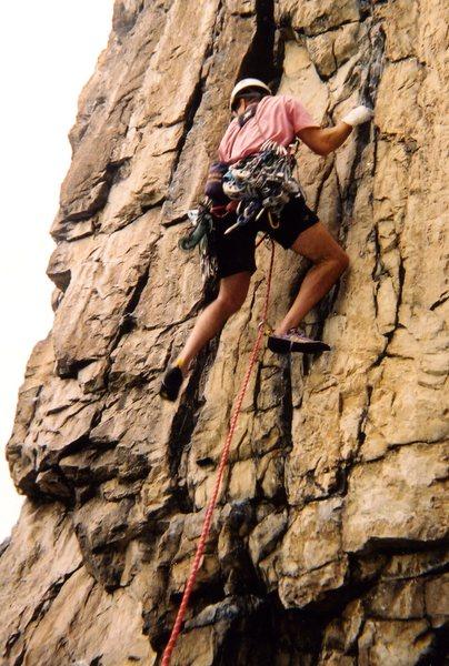 Rock Climbing Photo: Marshall's Madness 5.9, Seneca Rocks, WV