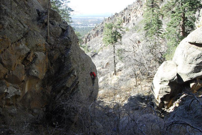 Rock Climbing Photo: Praying on Bat Wings.