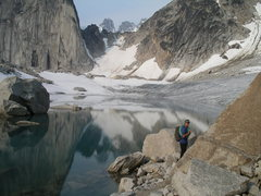 Rock Climbing Photo: Heading towards the Crescent Spire with the Snowpa...