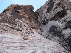 Rock Climbing Photo: John Fernandez negotiating the big squeeze with hi...